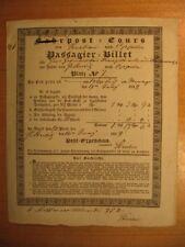 1839 Personenpost Passagier Billet Krakau Oppeln Schlesien Polen Post no AK