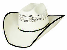 New Bullhide Hats Beer Time Western 20X Bangora Straw Cowboy Hat