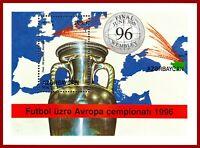 Aserbaidschan 1996 CEPT  Fussball Europameisterschaft England, Mi Bl 25 **MNH