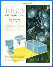 Vintage 1952 Briggs Beauty Wear In Color Powder Blue Bathroom Original Print Ad