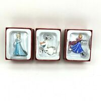 Hallmark Disney Frozen Christmas Tree Ornaments Elsa Anna Olaf Lot of 3 NEW