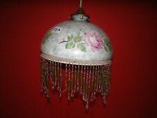 BEADED French vintage light shade, original, Art Deco, stencil, pendant light
