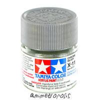TAMIYA COLOR X-11 Chrome Silver MODEL KIT ACRYLIC PAINT 10ml Free Shipping New
