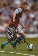 ASTON VILLA: TOM CLEVERLEY SIGNED 6x4 ACTION PHOTO+COA