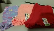 GARANIMALS BABY GIRL RUFFLED SHORTS 0-3 MONTHS NEW WITH TAGS 3 PAIR LOT