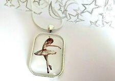 Gold Tone Crystal Fairy Ballet Ballerina Dancer Necklace Pendant Jewellery NL41