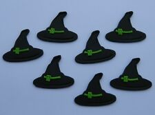 12 edible HALLOWEEN SCARY WITCH HAT cake topper decoration CUPCAKE FRIDAY 13TH