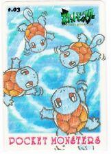 BANDAI Japanese Pokémon CARDDAS Sticker 1998! *Squirtle*!