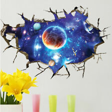 Removable 3D PVC Waterproof Blue Galaxy Space Wall Room Sticker Art Decal Decor