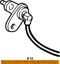 Dodge CHRYSLER OEM Dakota ABS Anti-lock Brakes-Front Speed Sensor 5016339AB