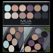 MUA MAKEUP ACADEMY - 12 EYESHADOW PALETTE - SOLSTICE - NUDE ROSE GOLD BROWN BLUE