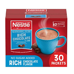 Nestle Hot Chocolate Packets, Hot Cocoa Mix, Sugar Free and Fat Free, 30 Count