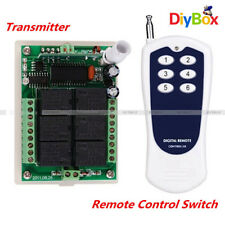 DC 12V 6 Channel RF Wireless Remote Control Switch Transmitter + Receiver
