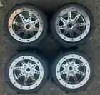 New 3.8 Axial Savage Revo T-Maxx 17mm Beadlock Wheels with Proline Paddle Tires