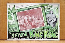LA SFIDA DI KING KONG fotobusta poster R.Fraser M.Wrixon The White Pongo 1945 L5