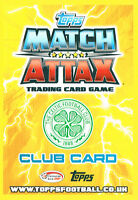 MATCH ATTAX  Scottish Premier League 2012-13 Club Crest - Topps Card SPL Badge