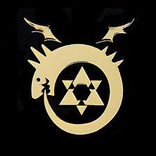Fullmetal Alchemist metal sticker 24K Gold-Plated (Uroboros)