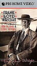 BRAND NEW Frank Lloyd Wright (VHS, 1998, 2-Tape Set) **NEW** FAST SHIPPER