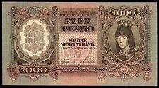 HUNGARY 1000 PENGO 1943 P#116 Ungarn UNC