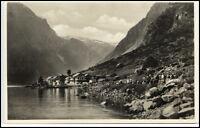 GUDVANGEN Kommune Aurland Brevkort Postcard Norge Norway Norwegen ~1930/40 AK