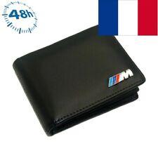 Portefeuille style BMW ///M cuir noir - carte de crédit permis porte monnaie