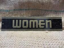 Vintage Reflective Women Sign > Antique Metal Signs Garage Store Restroom 9162