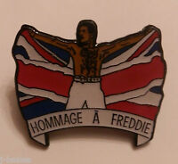 QUEEN FREDDIE MERCURY TRIBUTE CONCERT RARE ENAMEL PIN BADGE