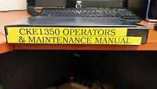 Kobelco Crawler Crane CKE1350 Operation and Maintenance Manual