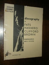 DISCOGRAPHY OF FATS NAVARRO / CLIFFORD BROWN - 1960