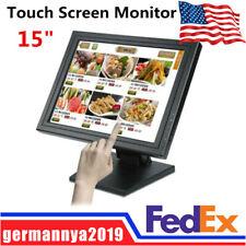 "15"" Touch Screen Monitor LCD VGA POS LED TouchScreen Kiosk Restaurant Bar Retail"