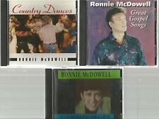 RONNIE MCDOWELL Great Gospel Songs UNCHAINED MELODY country dance 3 CD's