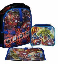 New listing Marvel Avengers Age of Ultron Deluxe Backpack Set - Backpack, Lunchbox & Folder