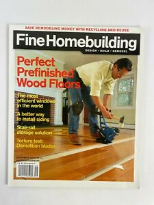 September 2010 Fine Homebuilding Magazine Perfect Prefinished WoodFloors Test #B