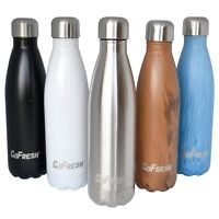 Water Bottle Stainless Steel Double Walled Vacuum Insulated GoFresh 17 oz.