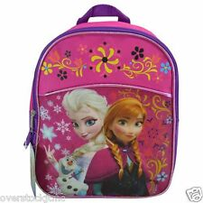 "Genuine Licensed Disney Frozen Elsa Anna Olaf 11"" Mini School Backpack"