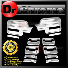 09-14 Ford F150 Chrome Mirror+4 Door Handle+no keypad+PSG keyhole Cover COMBO