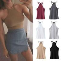 Women Top Halter Bustier Bra Vest Crop Top Bralette Shirt Cami Blouse Top DD