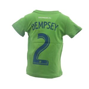 Seattle Sounders FC Official MLS Adidas Dempsey Infant Toddler Size T-Shirt New