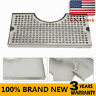 """12""""x7""""Kegerator Beer Drip Tray With Tower Cut Out Stainless Steel Surface Mount"""