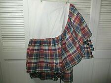 Ralph Lauren Garrison Madras Cotton Ruffled Bedskirt Queen Bed