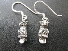 Eulen 925'er Silber Ohrringe Ohrhänger Paar      / KA 768 o