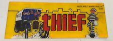 1981 Original Vintage Thief Arcade Game Plastic Header 23� x 8.5� Estate Find