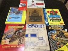 Mixed Lot Vintage Model Railroad Literature Flyers Price Lists Magazine Catalogs