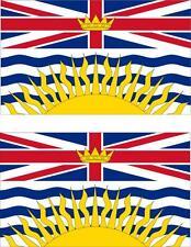 set of 2x sticker vinyl car bumper decal outdoor flag British Columbia canada