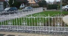 Schmiedeeisen Gartenzaun Zaun Rankzaun Metall Vitoria-Z 190 cm Feuer Verzinkt