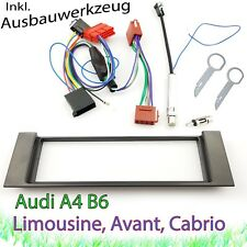 AUDI A4 B6 8E 8H Radioblende Blende Adapter Antenne Phantomspeisung Set