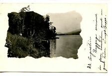 Scenic Pretty Water View-Barre-Vermont-RPPC-1908 Real Photo Vintage Postcard