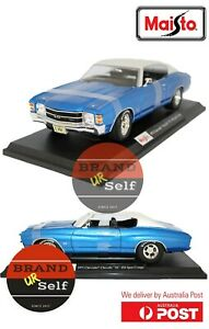 Maisto 1971 Chevrolet Chevelle SS 454 Sport Coupe Blue 1:18 Diecast model Car