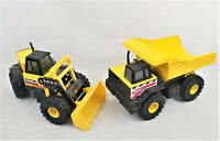 2012 Tonka Yellow Dump Truck 354 / Tractor Front Loader 838 Lot of 2
