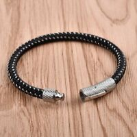 Black Men Bangle Fashion Jewelry Concise Leather Bracelet For Male Accessories